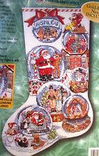 Bucilla 84098 SNOW DOMES  Christmas Stocking Kit ~ Sealed  ~ Gillum ~ Charms