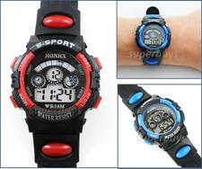 Red Girls Boys Sport Wrist Watch Water Resistant Digital Quartz Alarm Function
