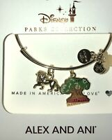 Disney Parks Alex and Ani Animal Kingdom Tree of Life With Lion Gold Bracelet