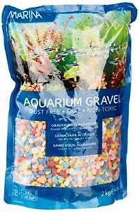Marina Decorative Aquarium Rainbow Gravel, Multi-Colour, 2 Kg