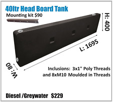 POLYMATE 40LTR SUPERSLIM DIESEL TANK.HEADBOARD. ASK FOR FREIGHT PRICE.