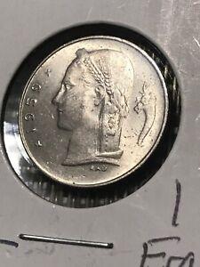 1959 BELGIUM LOW MINT 1 FRANC UNCIRCULATED COIN MINT