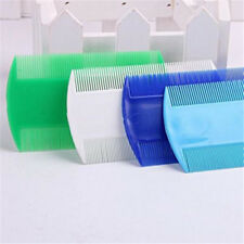 2 pcs Unisex Fine Toothed Comb Head Lice Flea Double Sided Combs Random Color
