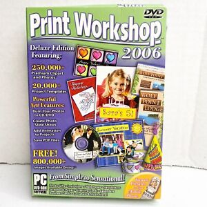 Print Workshop 2006 Deluxe Edition DVD ROM PC SOFTWARE NEW