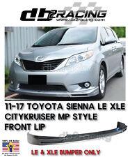 CITYKRUISER MP JDM Toyota Sienna LE XLE Front Lip (ABS), 2011-2017