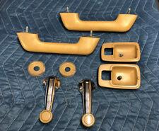 Datsun 620 Brown Door Interior Parts Lot Arm Rest Window Cranks