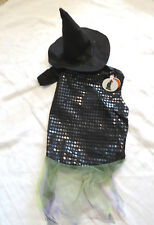 Pet Halloween Costume Witch Dress with Hat for Dog or Cat Size M Medium NEW