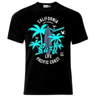 California Summer Surf Surfing Paradise Malibu Holiday Funny Surfen T-Shirt
