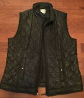 Chico's Women's Size 1 Black Puffer Quilted Vest Zip
