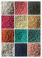 Free shipping no hole Pearl Round Spacer Loose Beads 3m-6mm Choose color