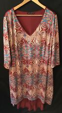 *Cute ISABEL + ALICE Women's Plus Size Casual Dress Red*Size 1X*