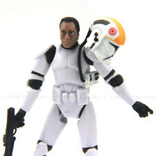 "New 3.75""Star Wars Clone Pilot TROOPER Revenge Of The Sith 501st With Helmet Toy"