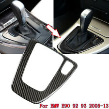 Carbon Fiber Sticker Gear Shift Panel Cover Frame Trim For BMW E90 92 93 2005-12