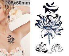 Flash Einmal Temporary Klebe Tattoo Blume Lotus Blüte Party Geschenk Strand Neu