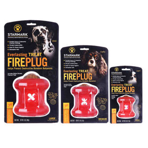 Starmark Design-Red Dog Puppy Everlasting Fire Plug Fun Toys Chewing Challenge