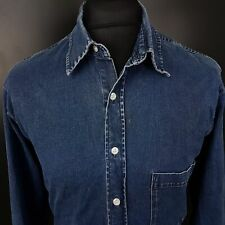 JOOP! Mens Denim Shirt MEDIUM Long Sleeve Blue Regular Fit  Cotton Spandex