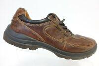 ECCO Leather Brown Sz 11.5 (45 EU) Men Lace-Up Sneakers