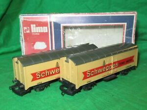 2 Lima OO / HO gauge Schweppes Tonic Water Vans good boxed