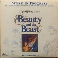 LASERDISC - THE BEAUTY AND THE BEAST - WORK IN PROGRESS - NTSC - DISNEY