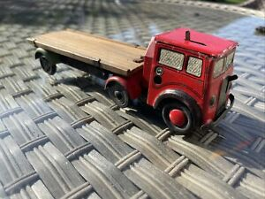 TRI ANG MINIC tinplate lorry AND TRAILER WORKING CLOCKWORK