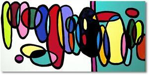 Art Unikat Bilder Gemälde Abstrakte Kreise Handgemalt Kunst Nr.1130