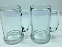 Set Of 2 Libbey Libby  Clear Glass Beer Mug Stein Root Beer Float 14 oz. 5""