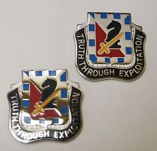 NEW US Army 221st Military Intelligence Bn Unit Crest Truth Through Exploiation