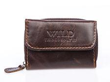 Herren echt Leder klein Portemonnaie Geldbeutel Geldbörse Brieftasche Portmonee