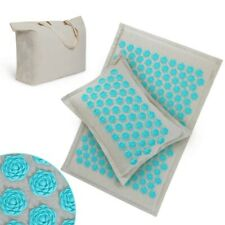 Lotus Acupressure Massage Mat Pillow Set Yoga Mat for Relieves Stress Back Relax