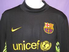 Nuevo Nike Barcelona club de Fútbol Portero Gk Camisa Negro Mediano
