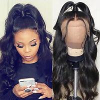 Pre Plucked Brazilian Virgin Human Hair 360 Full Front Lace Wigs Wavy Glueless #