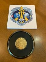 NASA Space Shuttle Discovery STS-128 Drink Coaster w/ Center Flight Medallion