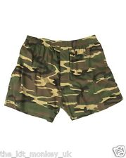 Mil-Tec Army Woodland Camouflage Military Mens Camo Boxer Shorts -New S-3XL