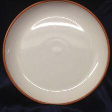 """EDDIE BAUER JAPAN EBA10 COUPE DINNER PLATE 10 5/8"""" WHITE BODY TERRA COTTA EDGE"""
