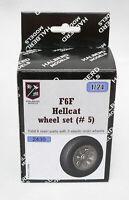 Halberd Models F6F HELLCAT wheels set #5 for Airfix 1/24 kits