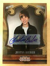 Justin Bieber Auto /299 2011 Panini Americana #5 Private Signings Autograph