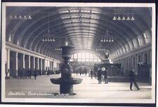 Interior STOCKHOLM Railway Station. 1927 Real Photo Postcard. GC. Free UK Post