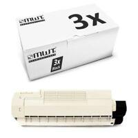 3x MWT Toner Nero Per OKI C-5800-LDN C-5900-DTN C-5500-N C-5550-MFP