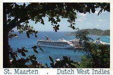 Cruise Ships, Philipsburg, St. Martin Sint Maarten, Caribbean --- Ship Postcard