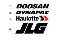 Sticker, aufkleber, decal DOOSAN DYNAPAC HAULOTTE JLG 50 70 100 cm