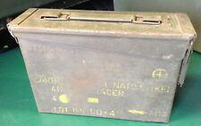 Military Ammunition Box, Ammo Can, Metal Tin Box, Green, Vintage, 30 Cal