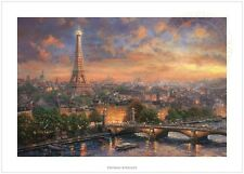 "Thomas Kinkade Paris, City of Love 18"" x 27"" S/N Limited Edition Paper"