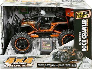 New Bright 4x4 1:10 Scale Radio Control Jeep Rock Crawler Trailcat 2.4GHz RC