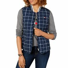 TOMMY HILFIGER SPORT NEW Womens Logo Quilted Printed Vest...
