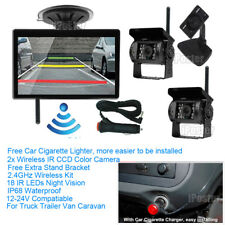 "Wireless 5"" Monitor Reversing Camera Rear View Kit 124v 24v Truck Caravan Boat"