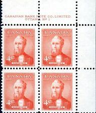 Canada Stamp PB#319 - Alexander Mackenzie (1952) 4¢