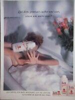 PUBLICITÉ 1990 LUX SAVON LUX BAIN MOUSSANT LUX GEL DOUCHE - ADVERTISING