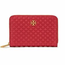 NWT Tory Burch Marion Embossed Zip Coin case and purse  Style 31505 Liberty Red