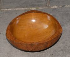 Wooden Hand Made Natural Teak Wood Bowl With Cinnamon Decoration