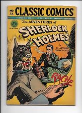 Classics Illustrated #33 Adventures Of Sherlock Holmes 1947 original edition